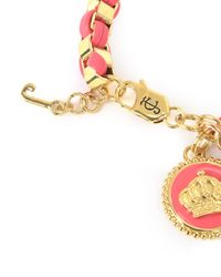 Juicy Couture | Red Box Chain Leather Coin Bracelet | Lyst