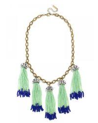 BaubleBar | Green Tropez Tassel Collar | Lyst
