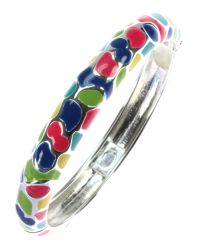 Indulgence Jewellery | Multicolor Round Multi Coloured Enamel Bangle | Lyst