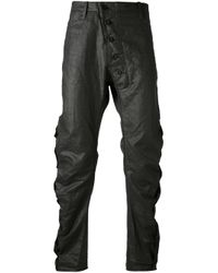 Lost & Found | Black Gathered Trouser for Men | Lyst