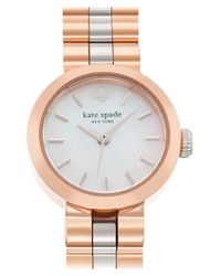 kate spade new york | Metallic 'tiny Gramercy' Bracelet Watch | Lyst