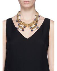 Ela Stone - Multicolor 'Andrea' Sodalite Jade Chain Necklace - Lyst