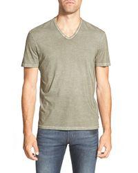 John Varvatos | Green Cotton V-Neck T-Shirt for Men | Lyst