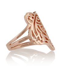 KENZO - Pink Tiger Rose Goldplated Ring - Lyst