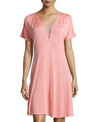 La Perla | Pink Magnolia Lace-trim Short Nightgown | Lyst