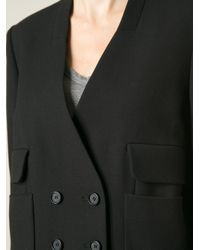 Issa - Black 'Peggy' Double Breasted Blazer - Lyst