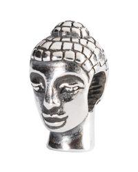 Trollbeads | Metallic Sterling Silver Head Of Buddha Charm | Lyst