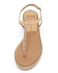 Dolce Vita - Metallic Ensey Snake-Skin Sandals - Lyst