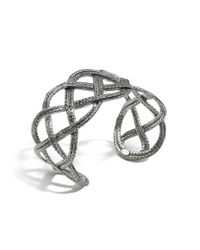 John Hardy | Metallic Classic Chain Wide Double Braided Cuff | Lyst