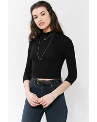Urban Outfitters - Metallic Knot + Bar High/low Necklace - Lyst