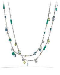 David Yurman - Metallic Capri Necklace With 18K Gold - Lyst