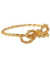 Alex Monroe - Metallic Gold-Plated Little String Bow Ring - Lyst