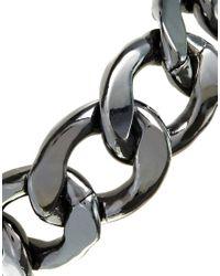 Monki - Gray Rebecka Gunmetal Chain Bracelet - Lyst