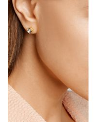 Kenneth Jay Lane - White Gold-plated Faux Pearl Earrings - Lyst