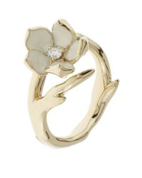 Shaun Leane | Metallic Single Cherry Blossom Ring | Lyst