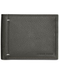 Perry Ellis | Black Hand-stitch Leather Slim Billfold for Men | Lyst