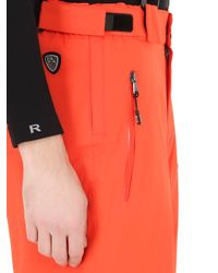 EA7 | Orange Nylon Water Resistant Ski Pants for Men | Lyst