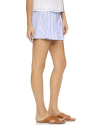 Caroline Constas - Pleated Shorts - Sky Blue - Lyst
