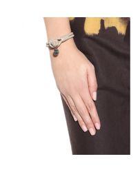 Bottega Veneta | Natural Knot Woven Leather Bracelet | Lyst