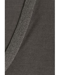 Brunello Cucinelli - Gray Bead-embellished Cashmere-silk Pullover - Grey - Lyst