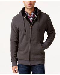 Weatherproof | Gray Vintage Hooded Sherpa Fleece Sweater Jacket for Men | Lyst