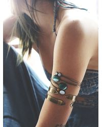 Free People - Green Womens Stone Wrap Armband - Lyst