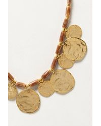 Anthropologie - Metallic Coinswood Necklace - Lyst
