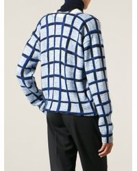 KENZO | Blue Squares Sweater | Lyst