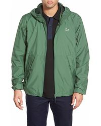 Lacoste | Green Lightweight Windbreaker for Men | Lyst
