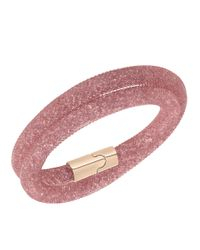 Swarovski | Pink Stardust Bracelet And Necklace | Lyst