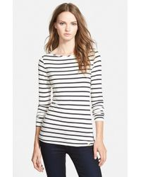 Amour Vert | Black 'francoise' Nautical Long Sleeve Top | Lyst