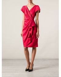 Moschino - Red Frill Front Dress - Lyst
