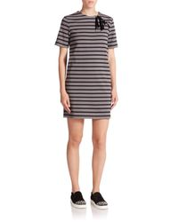 Marc By Marc Jacobs | Gray Jacquelyn Striped Lace-up Dress | Lyst