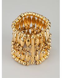 Aurelie Bidermann - Metallic Beaded Cuff - Lyst