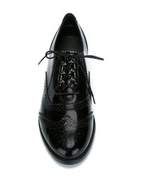 Stuart Weitzman | Black 'youngster' Brogue Shoes | Lyst