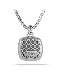 David Yurman | Metallic Albion Pendant With Prasiolite And Diamonds | Lyst