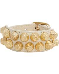 Balenciaga - Metallic Two Row Arena Giant Stud Bracelet-Colorless - Lyst