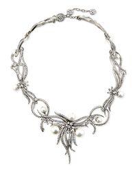 Jose & Maria Barrera - Metallic Rhodium-plated Statement Necklace - Lyst