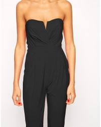 TFNC London - Black Tailored Jumpsuit With Tie Waistband - Lyst