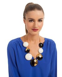 Trina Turk | White Resin Drama Necklace | Lyst