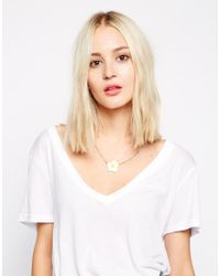 Tatty Devine - White Fried Egg Necklace - Lyst