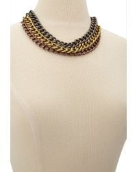 Forever 21 - Metallic -inspired Collar Necklace - Lyst
