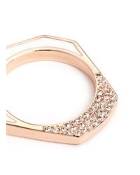 Eddie Borgo | Metallic 'tuareg' Crystal Pavé Enamel Heptagonal Ring | Lyst