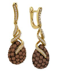 Le Vian | Brown Diamond Chocolate Diamond (2 Ct. T.w.) And White Diamond (1/4 Ct. T.w.) Swirl In 14k Gold | Lyst