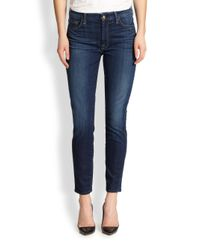 7 For All Mankind | Blue The Skinny Ankle Jeans | Lyst