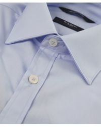 Paul Smith - Blue Tailored Fit Plain Shirt for Men - Lyst
