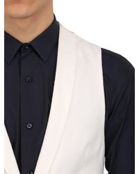 Giorgio Armani | White Techno Honeycomb Gaufrè Vest for Men | Lyst