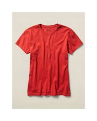 RRL   Red Cotton Jersey Crewneck T-shirt for Men   Lyst
