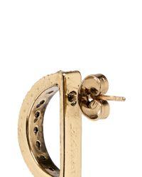 Lulu Frost | Metallic 'veratrum' Crystal Pavé Arch Stud Earrings | Lyst