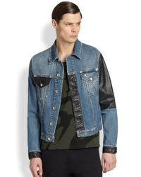 McQ | Blue Recycled Denim Jacket for Men | Lyst